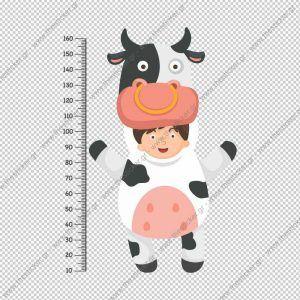 """Παιδικός υψομετρητής """"Ζωάκι Αγελάδα"""""""