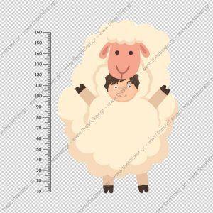 """Παιδικός υψομετρητής """"Ζωάκι Πρόβατο"""""""