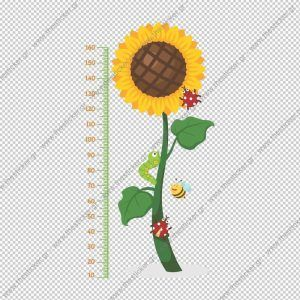 """Παιδικός υψομετρητής """"Λουλούδι του Ήλιου"""""""